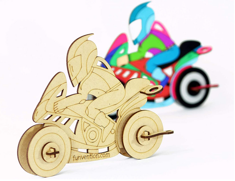 3D Coloring Model BIKE (Pack of 24) - DIY Desk Organizer Pen Stand