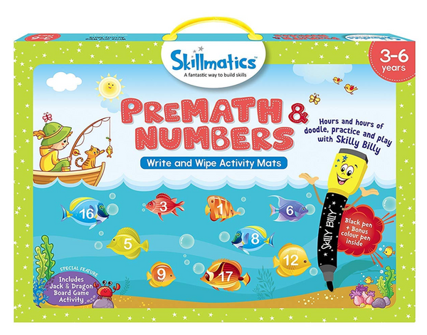 Skillmatics -Numbers - Write and wipe activity mats