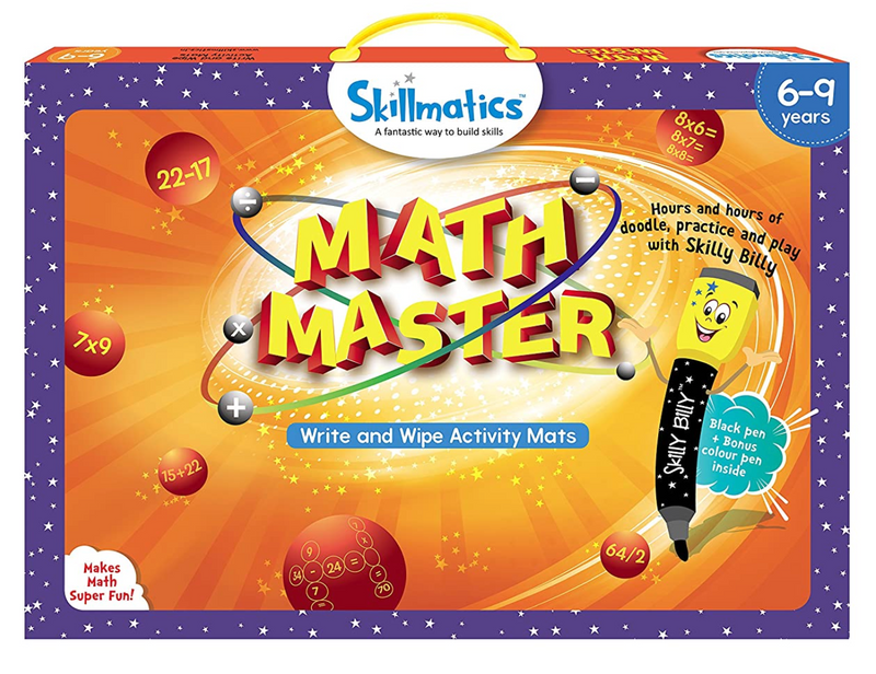 Skillmatics - Math Master | Learning & Activity Games | Sketching, Drawing, Creative, Art | Erasable & Reusable Mats