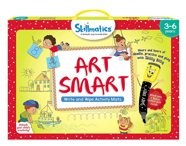 Skillmatics - Art Smart (3-6 Years) | Learning and Activity Games | Sketching, Drawing, Creative, Art | Erasable and Reusable Mats