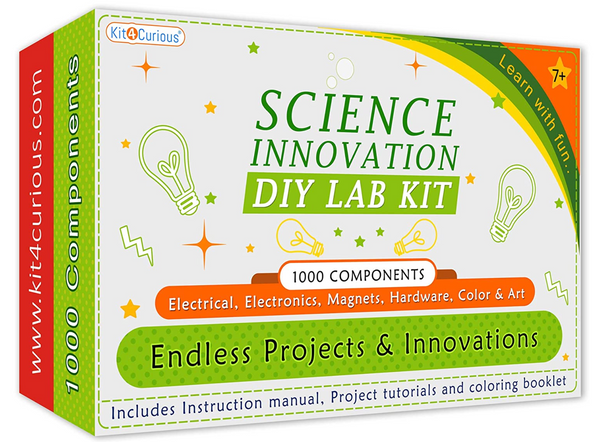 Kit4Curious - 1000 components mega science kit