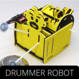 Witblox component - Drummer robot and Follow me cart