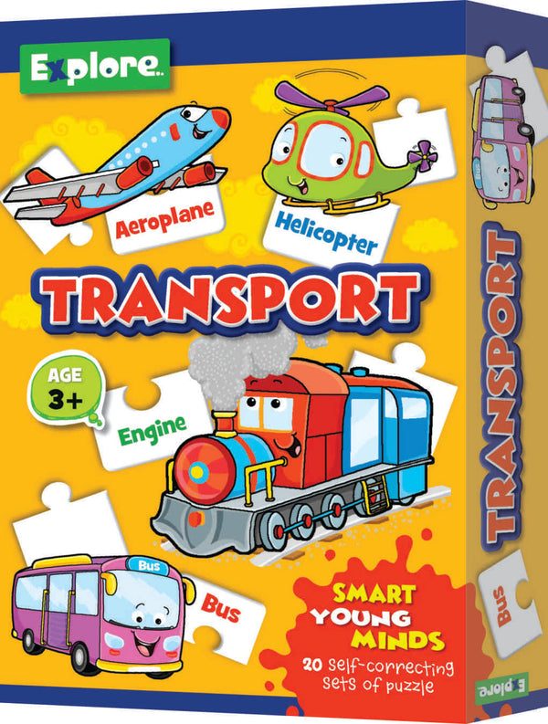 Smart young minds - Fruits,Transport and Vegetables puzzle