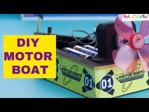 Be Cre8v -  Motor boat DIY kit