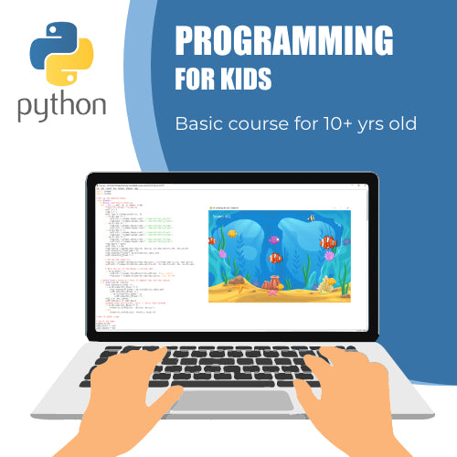 Python Programming Basic Course for 10+ years