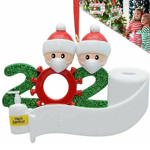 Christmas Ornament Quarantine 2020 Mask Toilet