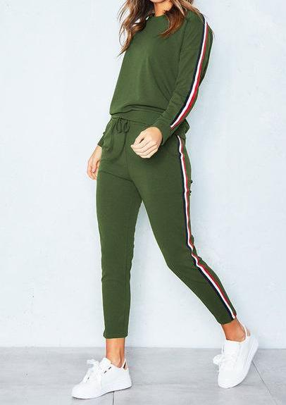 On Track Women's 2pc track sweat suit Crop