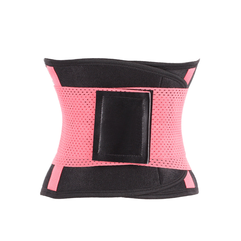 Pink Double Strap Waist Trainer Belt