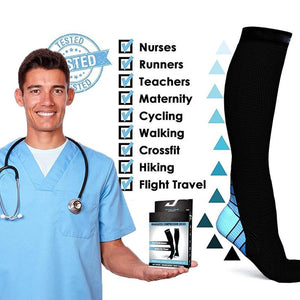 Anti-Varicose Fitness Compression Socks ( 3 Pairs)