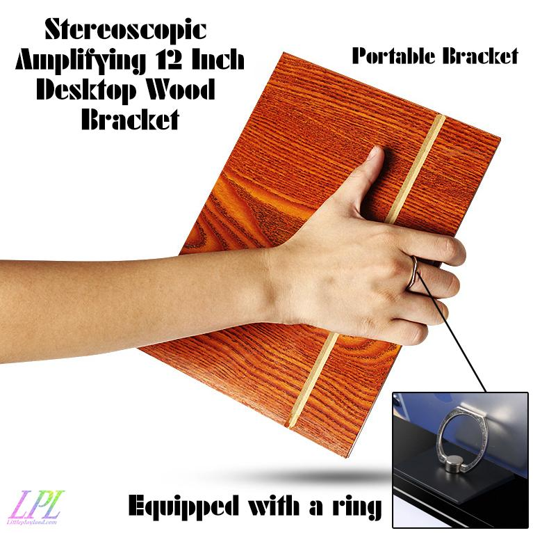 Stereoscopic Amplifying 12 Inch Desktop Wood Bracket