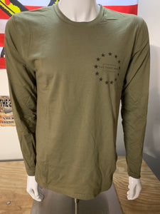 Betsy Ross Olive Drab Long Sleeve T-Shirt