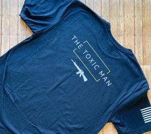 Navy Blue Chatos Toxic Man t-shirt