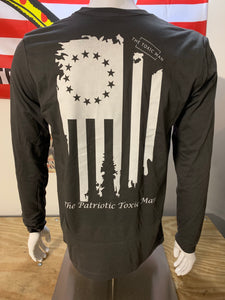 Dark Gray Betsy Ross Long Sleeve T-Shirt