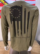Load image into Gallery viewer, Betsy Ross Olive Drab Long Sleeve T-Shirt