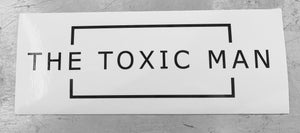 Classic The Toxic Man Rectangle Bumper Sticker