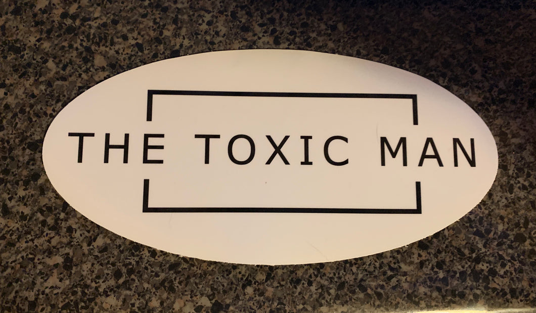 Classic The Toxic Man Oval Window Sticker
