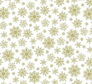 """Sparkle Suede"" Gold Snowflake"