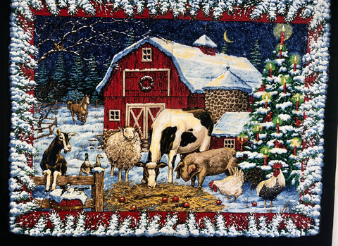 Barnyard Winter Christmas