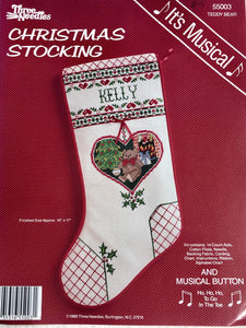 Teddy Bear Stocking Kit with musical button