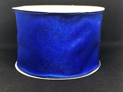 Wired Edged Royal Blue Craft Ribbon