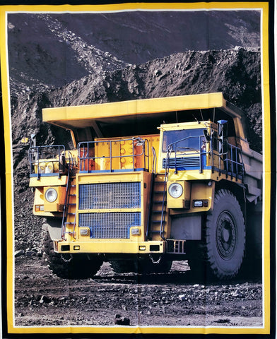 Mining Truck Fabric Craft Panel
