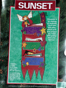 Angel Felt Christmas Card Holder Kit