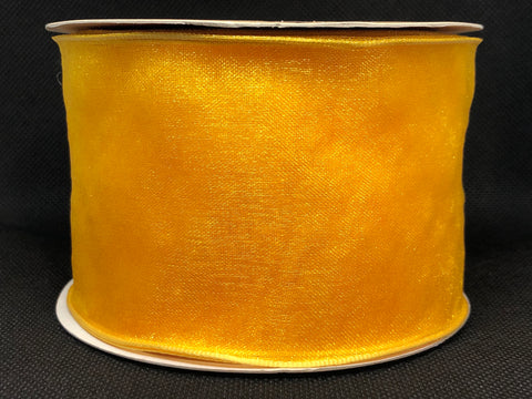 Wired Edged Yellow Craft Ribbon