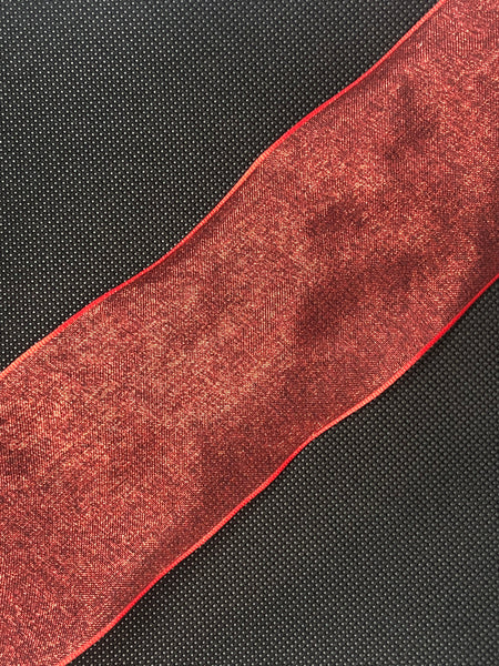 Wired Edged Red Craft Ribbon