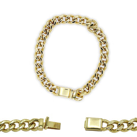 Cuban Link Chain Bracelet 18k Gold Plated Miami Cuban Stainless Steel - 11mm