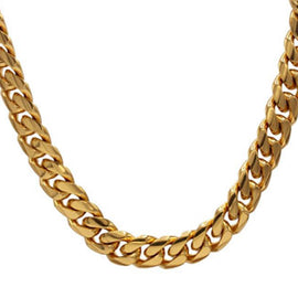 Cuban Link Chain Bracelet, 10mm 18k Gold Plated Stainless Steel, Fashion Jewelry