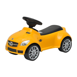 Yellow Mercedes Kids Ride-On Push Foot to Floor Car
