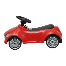Family Smiles Kids Toddlers Foot-to-Floor Ride-On Push Car Offically Licensed Mercedes SLK AMG Lightweight Buggy Car for Boys (Red)