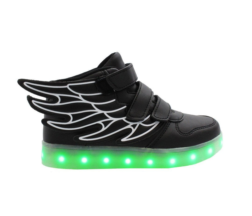 Kids High Top Wing Walker (Black) - Black / 9.5 Toddler