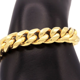 Cuban Link Necklace and Bracelet Set 18k Gold Plated Miami Cuban Stainless Steel 12 mm
