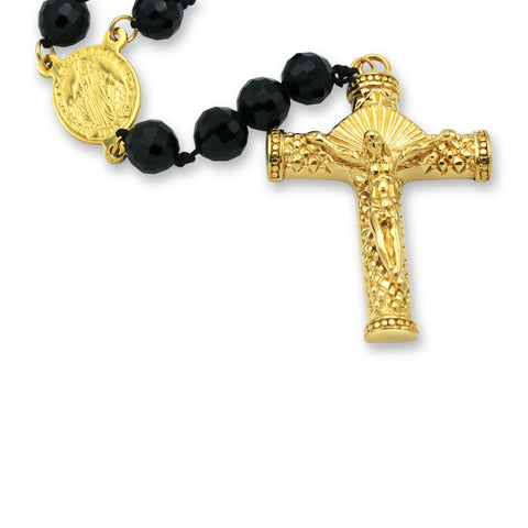 Fancy Rosary Necklace Acrylic Catholic Prayer Beads Crucifix Pendant