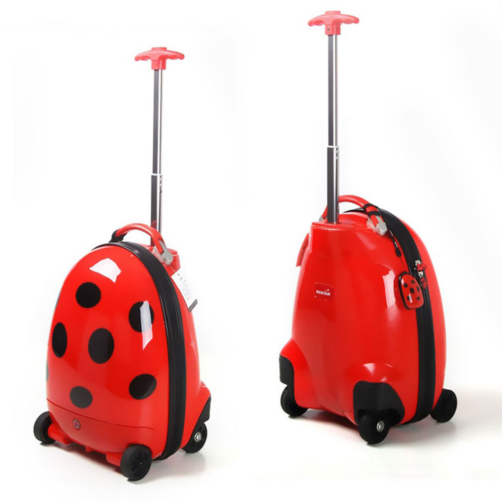 Kids Remote Control Walking Suitcase - RC Luggage for Children - Ladybug