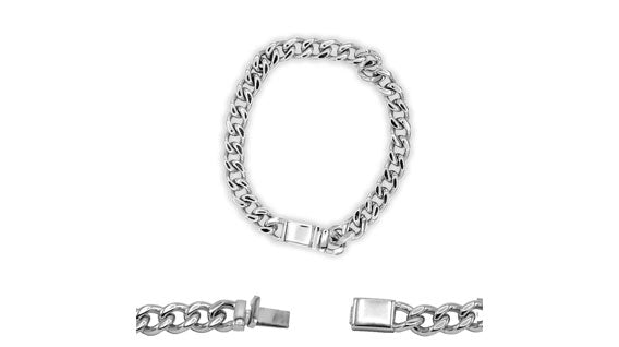 Cuban Link Chain Bracelet Miami Cuban Stainless Steel - 14mm