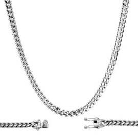 Cuban Link Chain, 6mm Stainless Steel, Fashion Jewelry Necklace