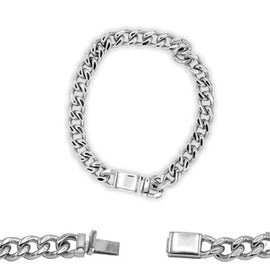 Cuban Link Chain Bracelet Miami Cuban Stainless Steel - 9mm