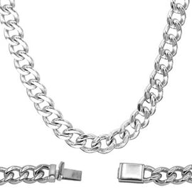 Cuban Link Chain Necklace Miami Cuban Stainless Steel - 9mm