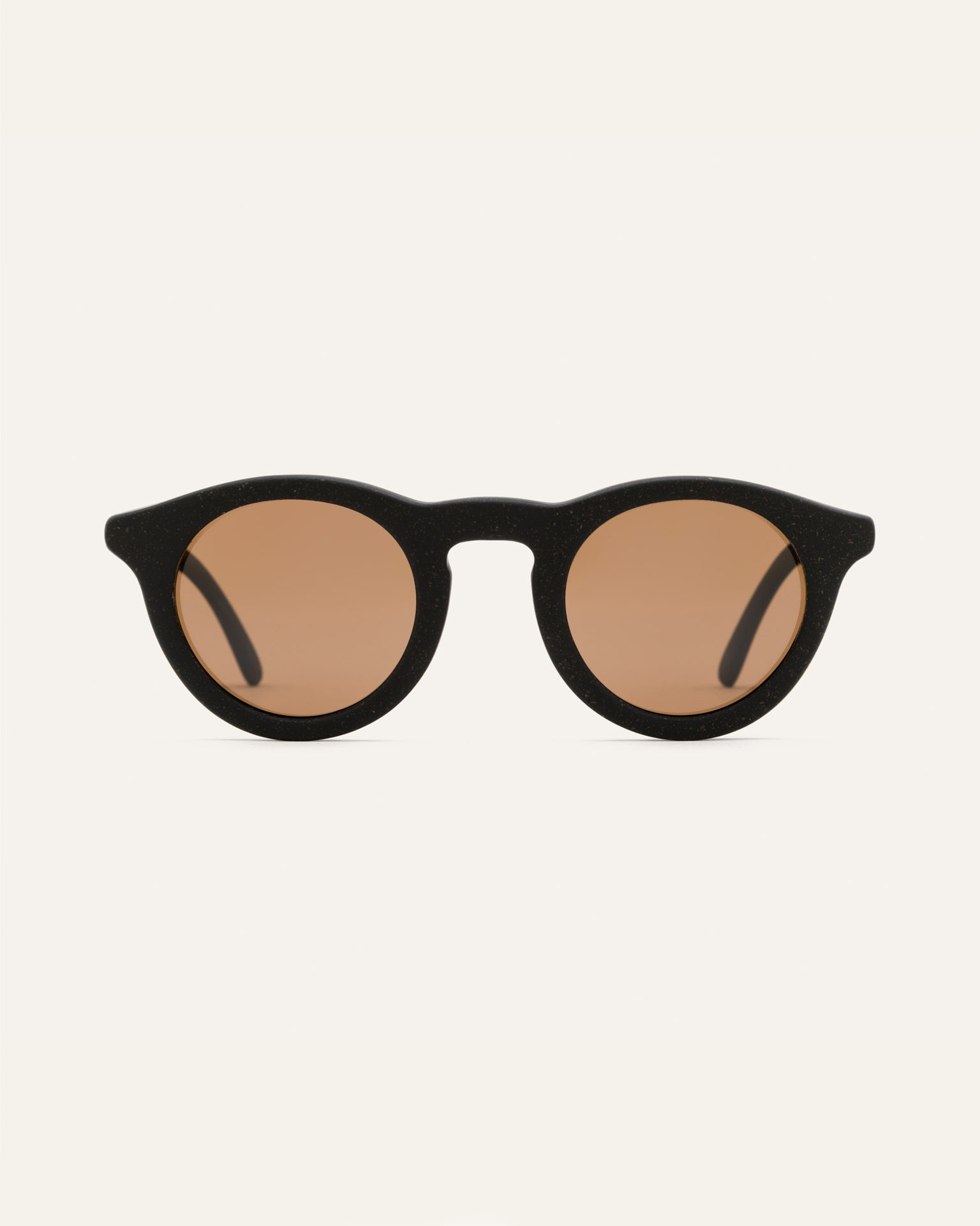 sunglasses with brown round lenses