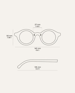 circle eyeglasses parameters