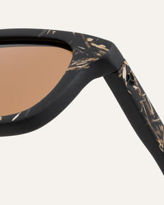 tinted rectangular frames coffee and flax