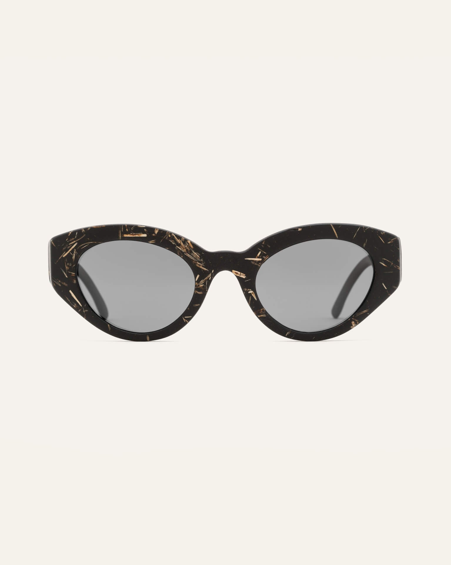 cat-eye sunglasses with gray lenses