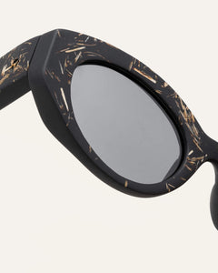 cat-eye eyewear with gray lenses