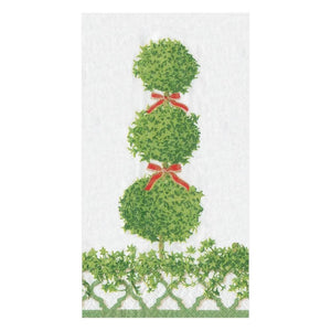 Paper Napkin Topiaries Green Border Buffé