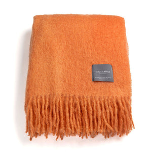 Mohair Blanket - Orange
