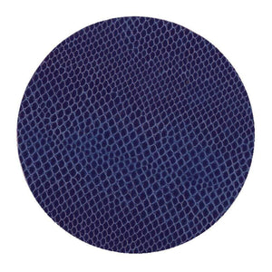 Drink Coaster Snakeskin Navy Blue 8-pack