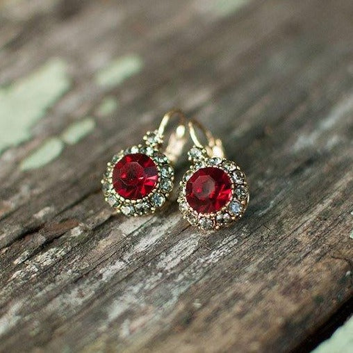 Vintage Earring Red