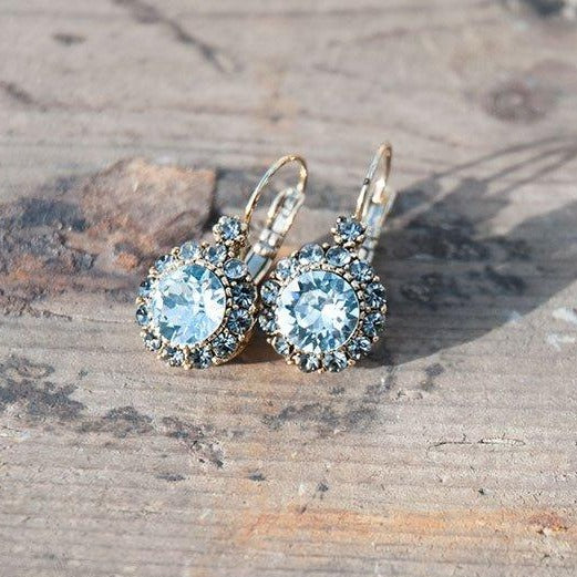 Vintage  Earring Mineral Blue